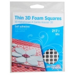 Scrapbook Adhesives by 3L Thin Foam Squares: Black, Assorted