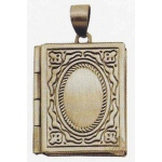 Stanislaus Imports, Inc. Book Locket: Antique Pewter, Medium