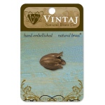 Vintaj Bead Cap: Flourish Petal, 22 x 14mm