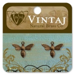 Vintaj Busy Bee Charm: 13 x 17mm