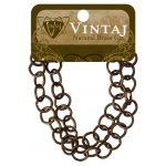 Vintaj Chain Round Link: 10mm