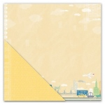 "Little Yellow Bicycle Escape Paper: Big City / Click, Yellow, 12"" x 12"""