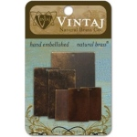 Vintaj Natural Brass: Blanks, Value Pack #2, Squares and Rectangles