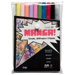 Tombow Dual Brush Pen: Manga Shojo, 10 Color Set
