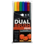 Tombow Dual Brush Pen: Primary, 6 Color Set
