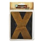 Bottle Cap Inc. Mixed Media Letter Press Block: Large X