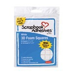 Scrapbook Adhesives by 3L 3D Foam Squares: Assorted Variety Pack, White
