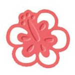 Marvy Clever Lever Silhouette Embossing Craft Punches Hibiscus: 2""
