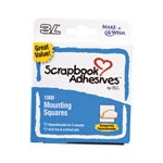Scrapbook Adhesives by 3L Mounting Squares: Temporarily Repositionable, White, 1000 Count