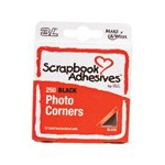 Scrapbook Adhesives by 3L Photo Corners Polypropylene: Black
