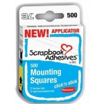 Scrapbook Adhesives by 3L Click N Stick Mounting Squares: White, 500 Count