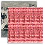 """Jenni Bowlin Studio Red/Black Extension IV Paper: Inkwell, 12"""" x 12"""""""
