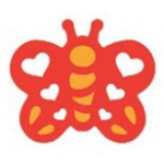 Marvy Silhouette Embossing Craft Punch Heart Butterfly