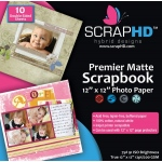"ScrapHD Premier Matte Scrapbook Photo Paper: 12"" x 12"", Pack of 10"