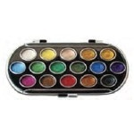 Yasutomo Pearlescent Watercolor Sets: 16 Colors