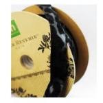 Making Memories Paper Reverie: Noir Ribbon Spool, Animal Print