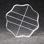 Apple Pie Memories Acrylic Stamping Block with Finger Grip: Round, 3.5""