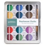 American Crafts Pebbles Chalk Set: Pearlescent, Jewel Tones, 30 Piece