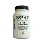 Golden Polymer Mediums: Gloss, 8 Ounces