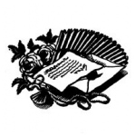 Donna Salazar Grandmas Garden Cling Mounted Rubber Stamp: Youre Invited