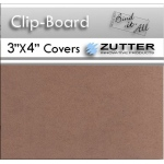 "Zutter Clip Board Wood Covers: 3"" x 4"" Covers, 2 Pieces"