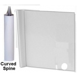 "Zutter Curved Spine Cover-Alls for 1"" Wires: 7.5"" x 5"", White, Curved"