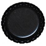 "Bottle Cap Inc. flattened Black 1"": 12 Bottle Caps"