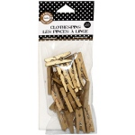 Canvas Corp Mini Clothespins: Gold