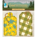 GCD Studios Heather Tozzi The Great Outdoors Fabric Travel Tags