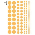 Heidi Swapp Chipboard Shapes Glossy Polka Dots: Kiwi