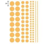 Heidi Swapp Chipboard Shapes Glossy Polka Dots: Whisper Blue
