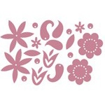 Heidi Swapp Chipboard Shapes Metallic Flowers: Pink