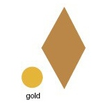 Heidi Swapp Chipboard Shapes Metallic Large Diamonds: Gold