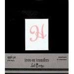 Heidi Swapp Iron Ons Apple Epie Uppercase Pink Fuzzy