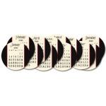 "Jenni Bowlin Studio Calendars 2010 6"" Diameter Circle Die-Cut Calendar Cards"