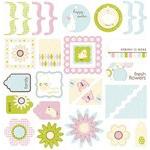 Making Memories Garden Party: Jigsaw Shapes Glitter Die-Cut