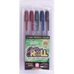 Sakura of America Gelly Roll Pens: Dark Metallic, Pack of 5
