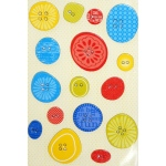 "Little Yellow Bicycle Sweet Summertime Chipboard Sticker Buttons: 16 Pieces, 3"" x 4.5"""