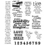 Stampers Anonymous Tim Holtz Cling Mounted Stamps: Stuff to Say
