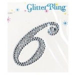 Making Memories Glitter Bling Monogram Script: 6