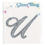 Making Memories Glitter Bling Monogram Script: U