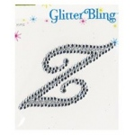 Making Memories Glitter Bling Monogram Script: Z