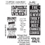 Stampers Anonymous Tim Holtz Cling Mounted Stamps: Words for Thought