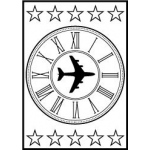Teresa Collins Designs Stamp: Plane
