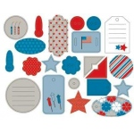 Piggy Tales Yankee Doodle Dandy Boat Collection Chipboard Shapes