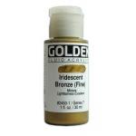 Golden Fluid Acrylics: Iridescent Bronze Fine, 1 oz.