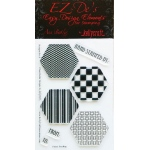 KellyCraft EZ-De's Hexagon Stamp Set A