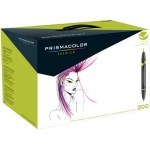 Prismacolor® Premier Brush Marker Set 200CT; Color: Multi; Double-Ended: Yes; Ink Type: Alcohol-Based, Dye-Based; Tip Type: Brush Nib, Fine Nib; (model SN1850852), price per set