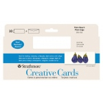 "Strathmore® Slim Size Palm Beach Creative Cards and Envelopes: White/Ivory, Envelope Included, Card, 10 Cards, 3 7/8"" x 9"", Smooth, Creative, 80 lb, (model ST105-152), price per 10 Cards"
