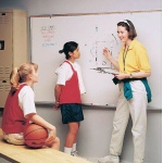 Ghent® 4' x 6' Magnetic Dry Erase Markerboard Wood Frame; Size: 4' x 6'; Type: Dry Erase; (model M1W-46-4), price per each